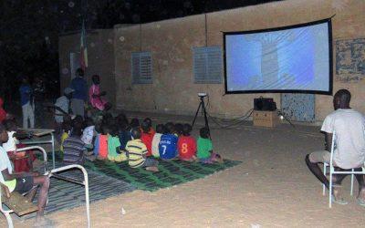 Cinecicleta en Ndiawara
