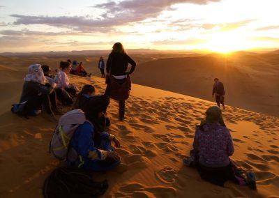 Anochecer desierto